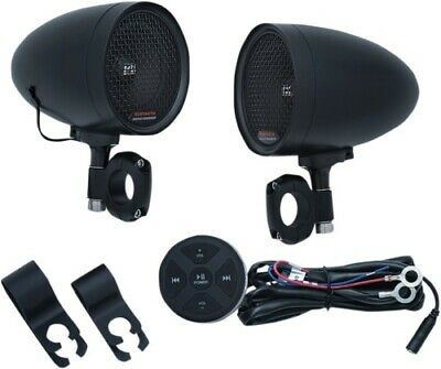 Kuryakyn 2713 Road Thunder Speaker Pods with Bluetooth Audio Controller by MTX