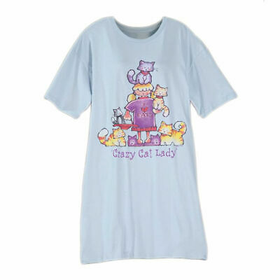 Toast and Jammies - Crazy Cat Lady Night Shirt - One Size