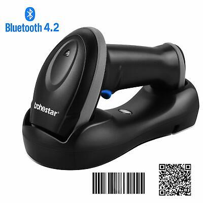Wireless 1D 2D QR Barcode Scanner,Compatible with Bluetooth Function & 2.4GHz