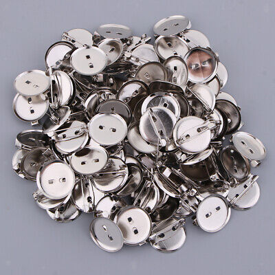 100pcs DIY CREATIVE BADGES BLANKS TRAY BACK WITH PINS COMPONENT VARIOUS SIZES