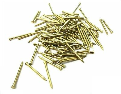 SOLID BRASS PANEL PINS, PICTURE TACKS, HARDBOARD NAILS 20mm,25mm,30mm,40mm,50mm
