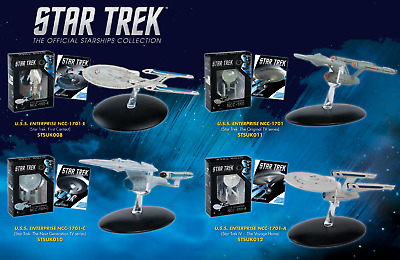 STAR TREK SHIPS - The Official Starships Collection - Enterprise/Defiant/Voyager