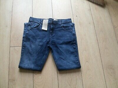 M & S Boys Skinny Fit Jeans With Stretch - Faded Blue - Age 11 - 12 - Bnwt