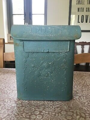 Shabby Chic Vintage Style Metal Mail Post Box Antique Finish Wall Letter AllChic