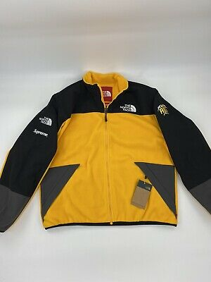 SUPREME THE NORTH Face RTG Fleece Jacket Yellow Large TNF