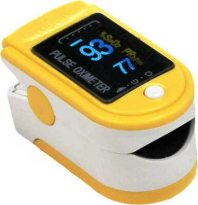 Contec Cms50D Pulse Oximeter Yellow