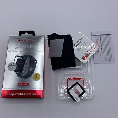 Zagg InvisibleShield Glass LX Screen Protector Apple Watch 38mm Series 3 - Black
