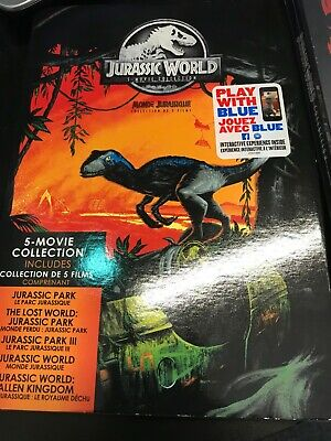 Jurassic World 5-Movie Collection DVD + SLIPCOVER- BRAND NEW!