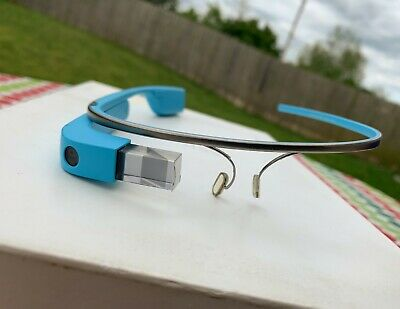 Google Glass Explorer Edition Sky Blue + RARE Poster + Foil Replacements