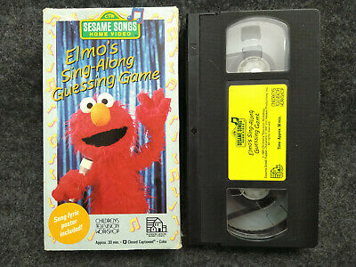 Elmo S Sing Along Guessing Game Vhs Sesame Street 12 99 Picclick