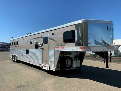 "2016 Lakota Charger 8417 Horse Trailer Living Quarter ""Super Slide"" Generator"