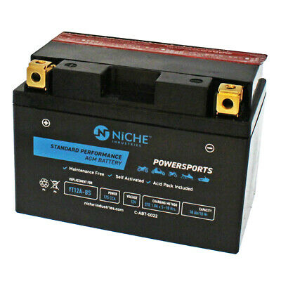NICHE AGM Battery High Performance 2013-2016 Kymco Downtown People YT12A-BS