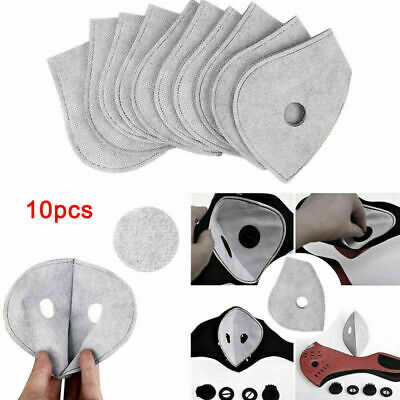 10pcs Protection Activated Carbon Anti Dust Bicycle Cycling Skiing Face Filters