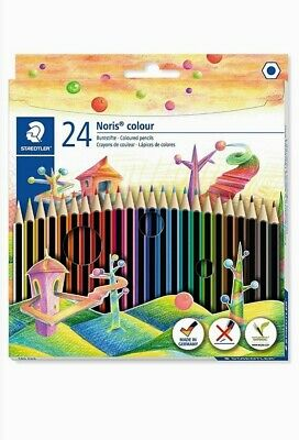 PACKS Of Staedtler 185 C24 Noris Color Colouring Pencil - Assorted Colors -