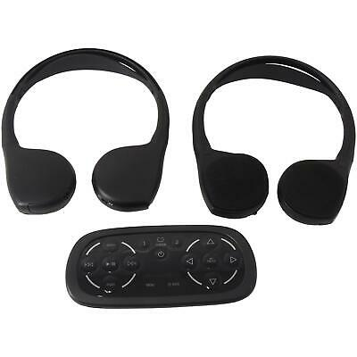 22863043 Rear Seat Entertainment Wireless Headphones With DVD Remote New OEM GM