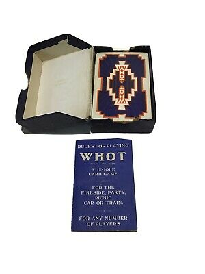 WHOT Waddingtons Fast-Moving Card Game Boxes Damaged But Contents New