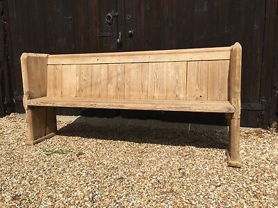 Antique Pine Church Pew, Old Pine Bench,