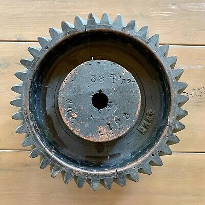 Antique Wood Wooden Foundry Industrial Pattern Machinery Gear Mold Steampunk