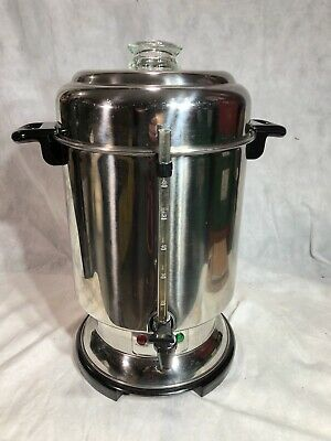 DELONGHI DCU62 Ultimate Commercial Coffee Maker Pot Urn 20-60 Cup Missing Tube