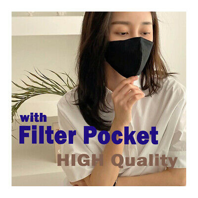 Filter Pocket-Linen Comfortable Face Mask- Good Quality / Breathable -Free Size