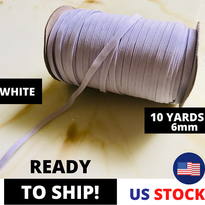 """20/50/125 Yards Elastic Band 1/4"""" Thin Trim for DIY Protective Face Mask"""