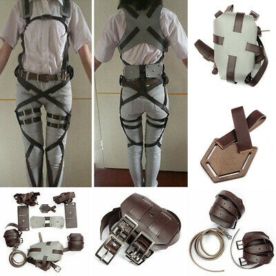 1 Set Adjustable Cosplay Attack On Shingeki no Kyojin Straps Harness Recon Belts