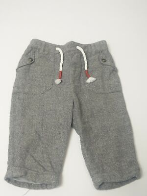 Baby Boys Marks & Spencer Grey Adjustable Waist Pocket Trousers Age 3-6 Months
