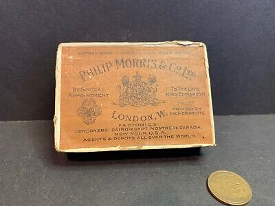 1910 Philip Morris Cigarette Box with Tax Stamp & Seal