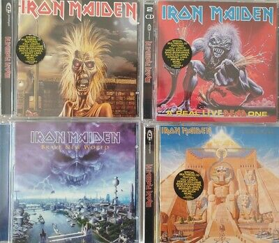 Iron Maiden CD Enhanced Powerslave A Real Live Dead One Brave New World NUOVI