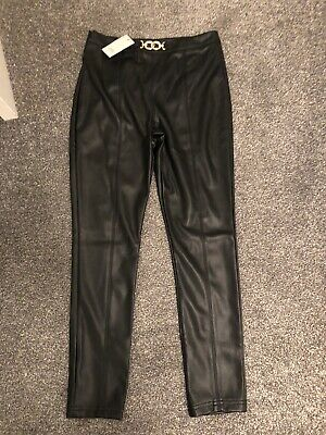 Girls River Island Faux Leather Trousers leggings Age 12 BNWT