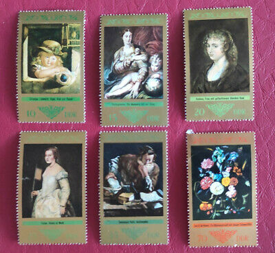 East Germany DDR, 1973, SG – E1616-21, Paintings by Old Masters, MNH