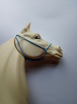 Handmade 1:12 scale horse headcollar halter lead rope tack fit Classic Breyer