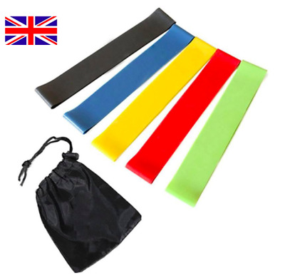Resistance Loop Bands Exercise Sports Fitness Home Gym Latex Set Or Singles