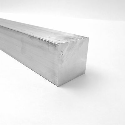 "2.5"" x 2.5"" Aluminum  6061 SQUARE Solid  FLAT BAR 7.5"" Long  sku L216"