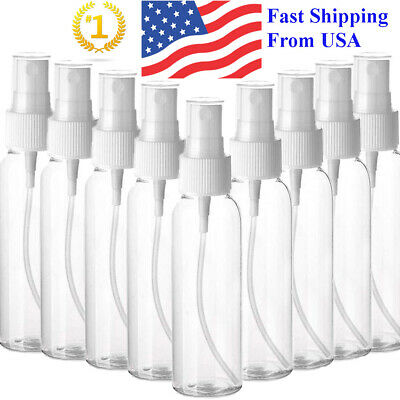 Transparent Plastic Perfume Empty Spray Bottle 100ml x2