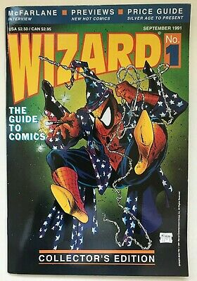 Wizard #1 1991 Price Guide Spider-man Todd McFarlane Marvel Collector's w Poster