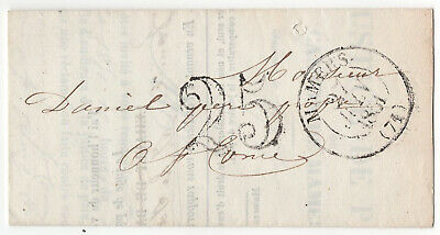 1851 letter summons Justice De Paix MAMERS France stampless