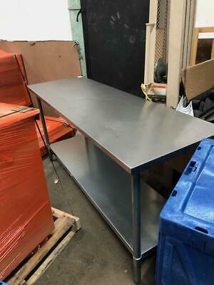 "6' Stainless Steel Lab Table 72""x24"" Wide, Standing Height"