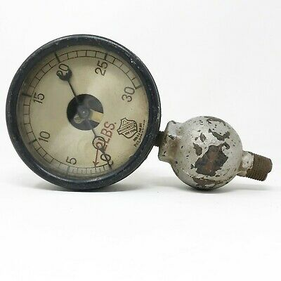 1910 Vintage The Ashcroft Compound Gauge Dial