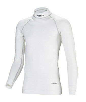 Sparco Underwear Top White Medium/Large P/N 001764Mboml