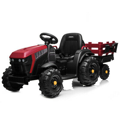 Electric 12V Kids Ride On Tractor Car Toys Battery Wheels Music with Trailer