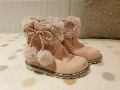GIRLS PINK WINTER Ankle Boots Tesco