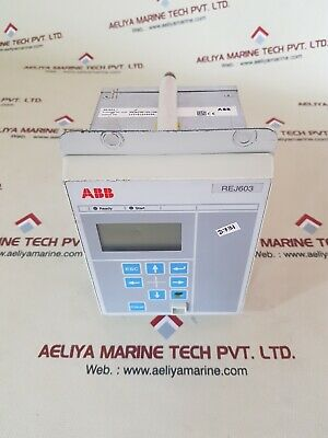 Abb rej603 self-powered feeder protection relay