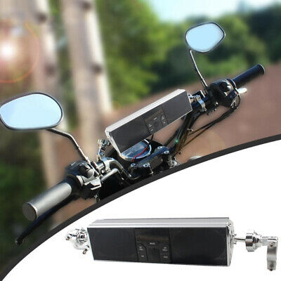 Motorcycle Bluetooth Audio Sound System APP Control USB FM Radio Stereo Speakers