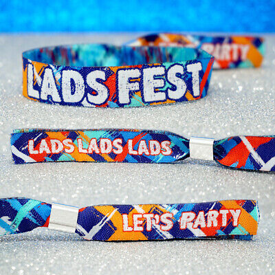 LADS FEST Festival Party ~ Stag Do Party Wristbands / ladsfest party accessories