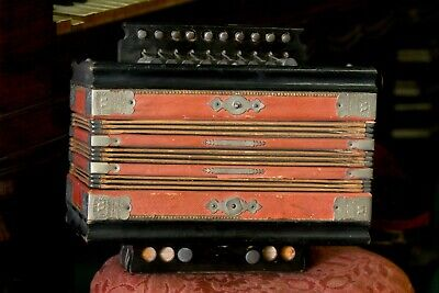 Weidlichs US Advance concertina accordian Germany Bell Metal Reeds