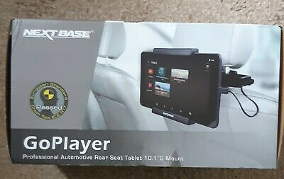 """next base go player 10"""" inch tablet computer pc + headrest fitting & remote"""