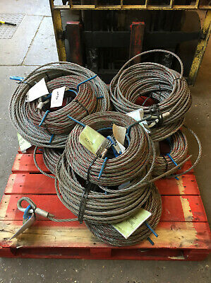 11.5mm Winch Cable To Suit Tirfor & 1600kgs Wire Rope Hoist  50mtr