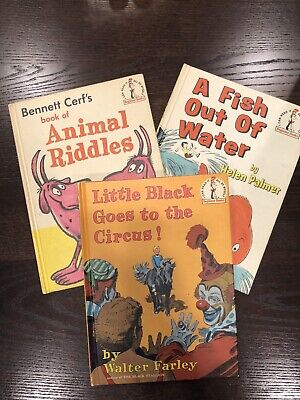 Dr Seuss Beginner Books, 3 Books. A Fish Out Of Water, Animal Riddles, Little Bl