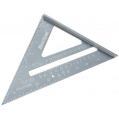 """BlueSpot 150mm 6"""" Aluminium Speed Square Roofing Rafter Angle Measure Guide"""